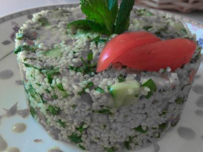 Σαλάτα με κουσκούς και βινεγρέτ μουστάρδας